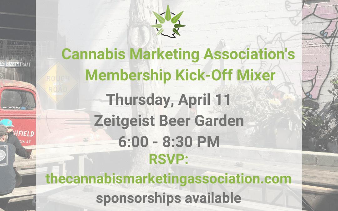 Cannabis Marketing Association's Membership Kick-Off Mixer — San Francisco