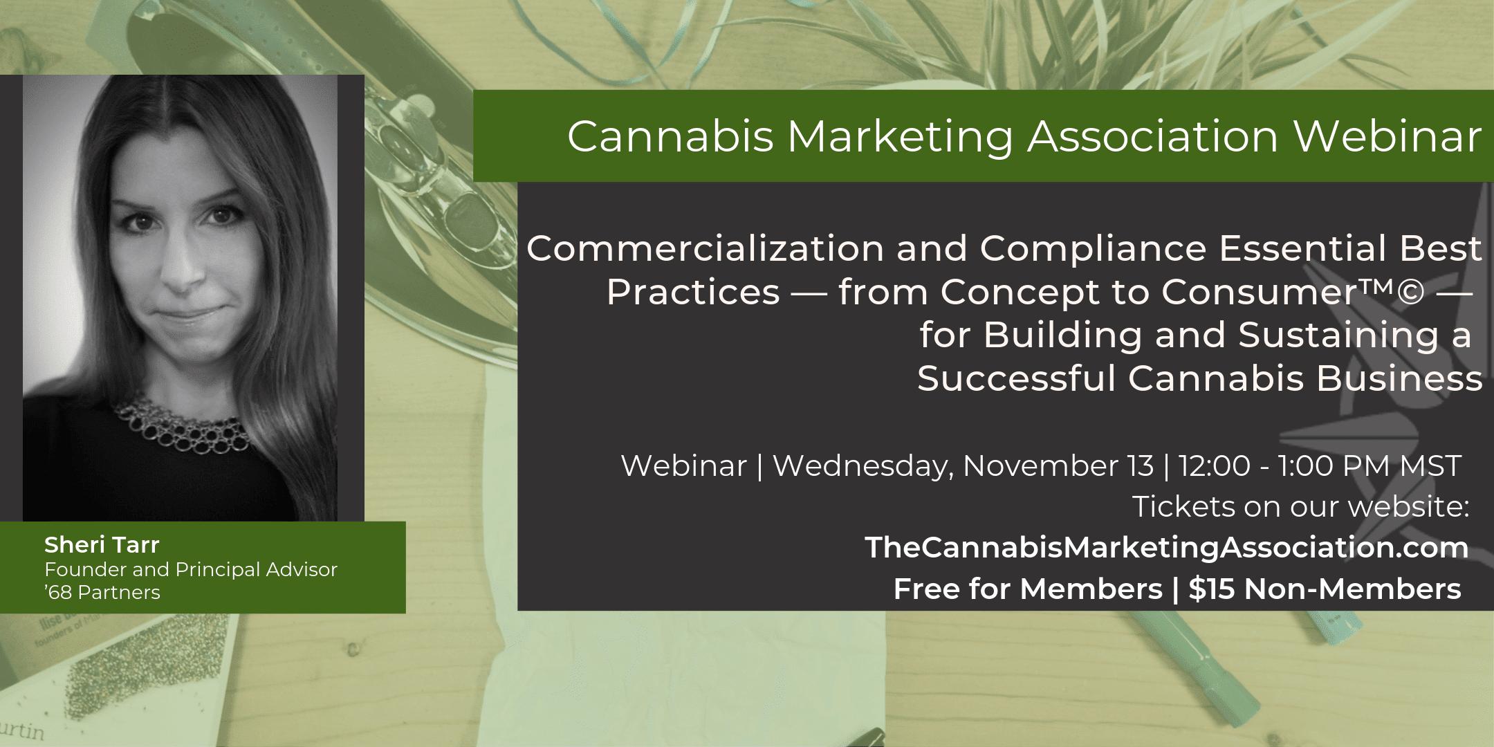 Cannabis Marketing Association Compliance Webinar