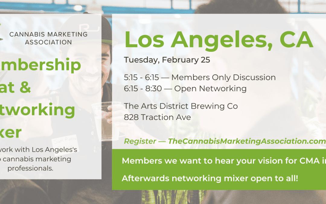 Cannabis Marketing Association Membership Chat & Networking Mixer