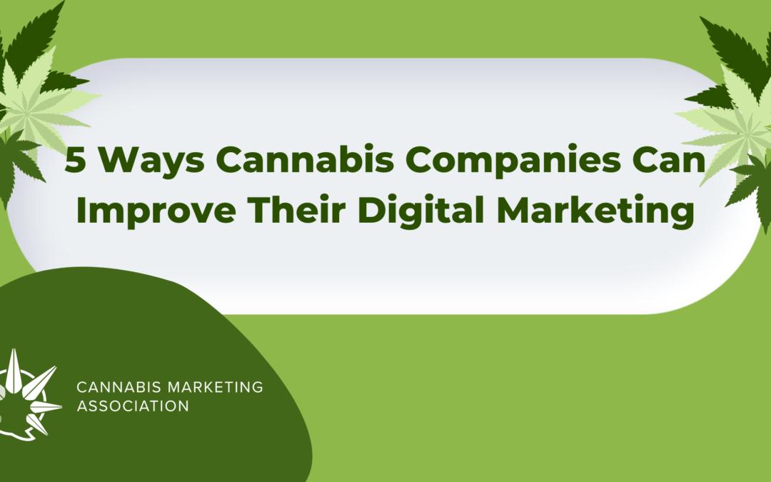 5 Ways Cannabis Companies Can Improve Their Digital Marketing